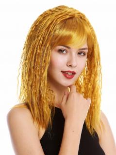 Perücke Damen Krepplocken gekreppt voluminös Pony Kupferblond Blond DW90-144
