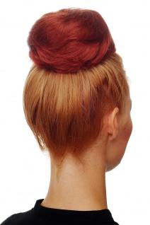 Haarteil Dutt Haarknoten 60er Jahre Vintage Look sehr groß Rot Kupfer NHA-004C - Vorschau 1