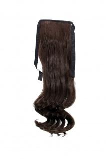 Haarteil ZOPF Braun wellig 45cm YZF-TC18-6 Band Haar Klammer Haarverlängerung
