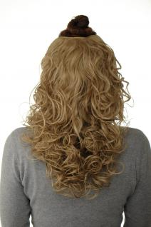 Haarteil Halbperücke Clip-In Haarverlängerung Locken Aschblond 40cm H9312-24