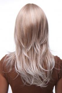 Damenperücke lang Perücke Blond gesträhnt Pony Scheitel frisierbar gestuft 4038 - Vorschau 4