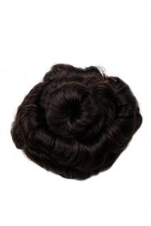 Haarteil Haarrose Haardutt Dutt Bun braun dunkelbraun spiralförmig 14 cm 90047L-6