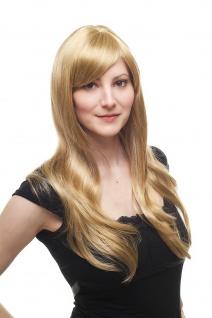 Damen Perücke Wig blond-mix leicht gesträhnt hell lang Haarersatz 60cm 9213-611B
