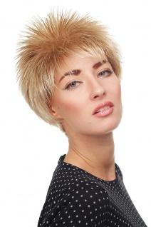 Damen Perücke Igel kurz toupiert wilde Strähnen 80er Wave Blond Mix 3324-27T613