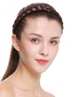 Haarband Haarreif geflochten Tracht traditionell mittelbraun braid CXT-007-008