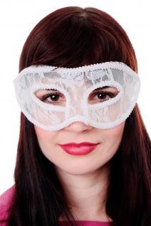 Venezianische Maske Damenmaske Halbmaske Weiß Spitze Maskenball Gothic LS-002 - Vorschau 1