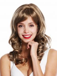 WIG ME UP Perücke Damenperücke lang Locken edel gelockt Braun Blond Gesträhnt