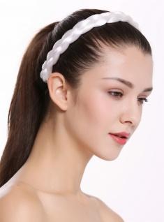 Haarband Haarreif geflochten traditionell sehr breit weiß braid CXT-005-138