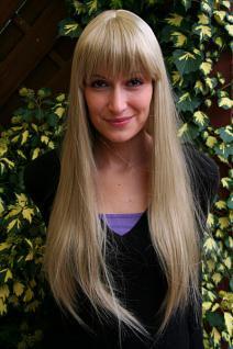 Perücke blond lang Pony 3113-24
