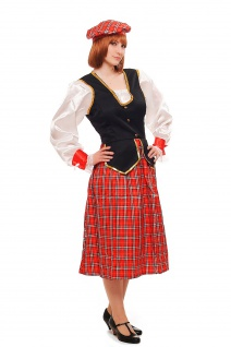 Kostüm Damen Damenkostüm Schotte Schottin Scotswoman Schottland Scot K46