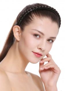 Haarband Haarreif geflochten Tracht traditionell dunkelbraun braid CXT-003-003