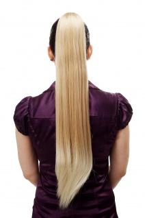 Haarteil/Zopf sehr lang glatt Butterfly-Klammer ca. 70 cm Blond-Mix T113-24BT613
