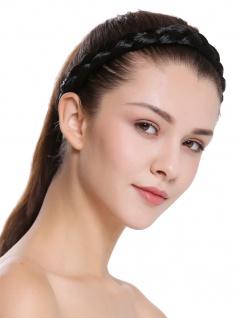 Haarband Haarreif geflochten traditionell breit schwarz braid CXT-005-001