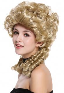 Perücke Damen Karneval Barock Renaissance Romantik Spiral Locken toupiert Blond