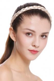 Haarband Haarreif geflochten Tracht traditionell platinblond braid CXT-006-319