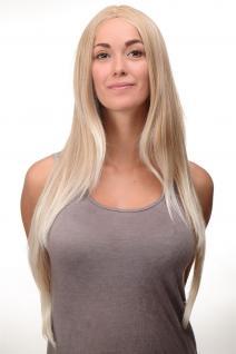 Perücke Blond Erdbeerblond-Platinblond-Mix glatt Mittelscheitel 80cm 3217-27T613