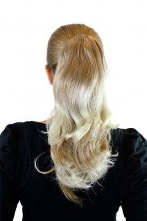 Zopf Pferdeschwanz Haarteil Blond Mix helle Spitzen wellig 40 cm JL-0065-27T613