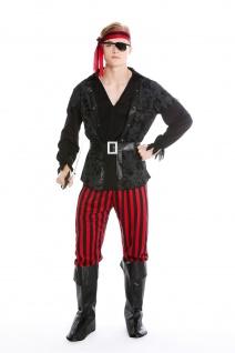 Kostüm Herren Männer Karneval Pirat Freibeuter Seeräuber Gr. S/M