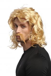 Perücke Bart Herren Karneval Halloween Blond Gallier Germane Barbar Kelte Barde