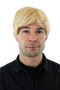 Perücke Männer Herren blond hellblond kurzhaarig kurz Scheitel 20cm GFW355A-613E