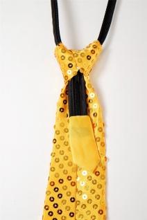 Krawatte Fasching Karneval Revue Cabaret Pailletten breit Gold VQ-020-GOLD - Vorschau 2