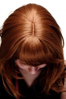 Damenperücke lang Perücke rotblond blond Pony Scheitel frisierbar gestuft 4038 - Vorschau 5