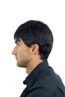 Perücke Herrenperücke Männer kurz schwarz schwarzbraun glatt WL-0204-2 Wig Men - Vorschau 5