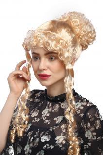 Perücke Dame Karneval Fasching historisch Biedermeier Romantik Renaissance Blond - Vorschau 4