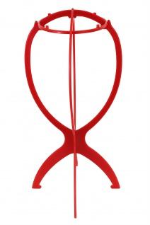 Plastik Perückenständer rot Ständer Perücken Aufbewahrung Lagerung Präsentation