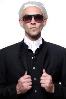 Perücke mit Zopf weiß exzentrischer Modemacher Mode Designer Graf Edelmann
