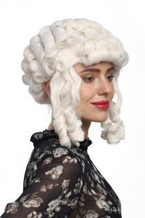 Perücke Karneval Fasching Barock Weiß Locken Königin Marie Antoinette Pompadour