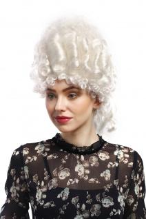Perücke Damen Karneval Historisch Barock weiß Marie Antoinette Turmfrisur Adel - Vorschau 2