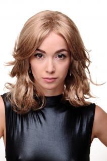 Damen Perücke glamouröser voluminöser 80er Stil braun blond gesträhnt GFW1844