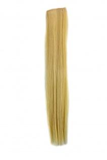 2 Clips Extension Strähne glatt Licht-Blond YZF-P2S18-613 45cm Haarverlängerung