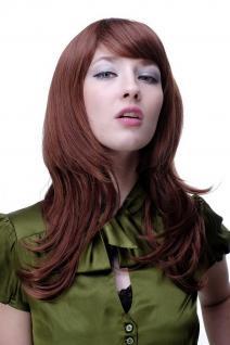 Frauen Perücke Rotbraun-Rot-Mix Kupfer leicht gewellte lange Haare 4038-33A130