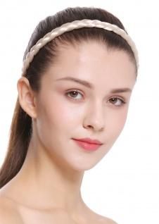 Haarband Haarreif geflochten Tracht traditionell platinblond braid CXT-008-319