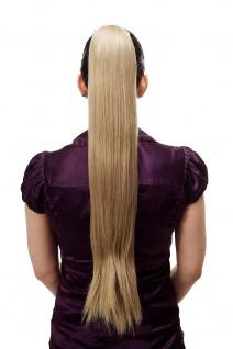 Haarteil/Zopf sehr lang glatt Butterfly-Klammer ca. 70 cm Blond-Mix T113-613L/18