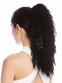 Haarteil Zopf voluminös lockig Krepplocken gekreppt Afro Kinks Schwarz 45cm