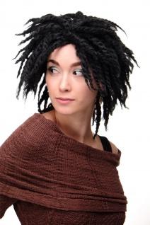 WIG ME UP Damenperücke Perücke Karibik Afro Schwarz Afrolocks Dreadlocks GFW1837 - Vorschau 1