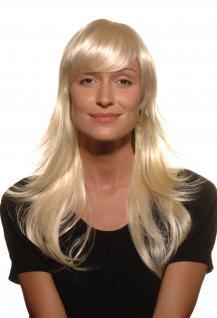 SUPERSCHICK, Damen, Perücke, Wig, PLATINBLOND, blond, glamourös, glatt, 55 cm, 9265-613