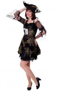 DRESS ME UP Kostüm Damenkostüm Kleid Funkenmarie Barock Piratin Seeräuberin Gr. S/M