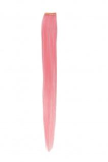 1 Clip Extension Strähne Haarverlängerung glatt Rosa 45cm YZF-P1S18-T1911