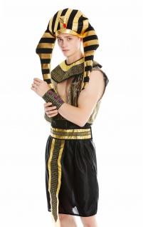 Kostüm Herren Männer Karneval Halloween Ramses Ägypter Pharao S/M - Vorschau 1