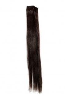 2 Clips Extension Strähne glatt Braun YZF-P2S18-6 45cm Haarverlängerung