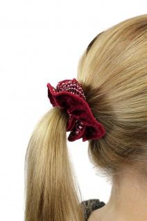 Schickes Ziehharmonika-Haarband Haarbinder Stoff Scrunchy Rot Haargummi Z011