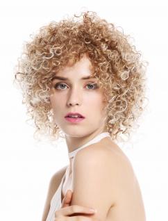 Perücke Damenperücke kurz voluminös kraus gelockt Locken Blond Mix VK-11