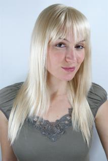SUPER SEXY Damen Perücke blond lichtblond mit Pony gestufte Haare LA032-611 50cm