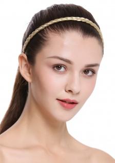 Haarband Haarreif geflochten Tracht traditionell hellblond braid CXT-009-320