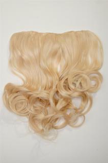 Clip-In Extension Haarverlängerung breit 5 Clip lockig hellblond lichtblond