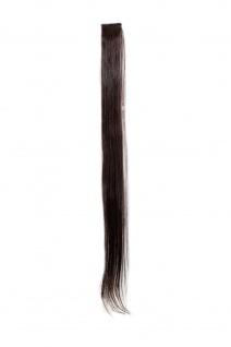 1 CLIP Strähne glatt Dunkel-Braun-Mahagoni YZF-P1S25-2T33 65cm Haarverlängerung